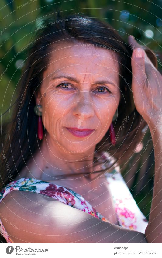 beautiful woman with wrinkles Woman Human being Nature Plant Colour Beautiful Face Adults Lifestyle Healthy Emotions Feminine Freedom Fresh 45 - 60 years