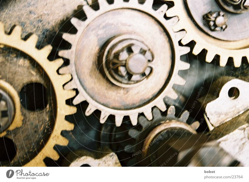 Work and employment Clock Mechanics Metal Equipment Technology Financial Industry Machinery Oil Rotate Gearwheel Rotation Impulsion