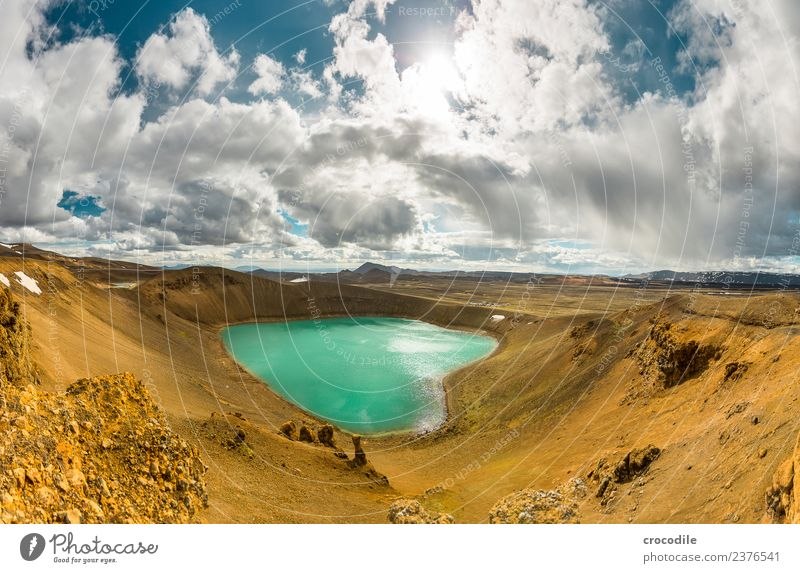 # 756 Viti Crater Iceland Krafla North Volcano Long exposure Clouds Colour photo Earth Gloomy Desert Cold Electricity generating station Geothermy