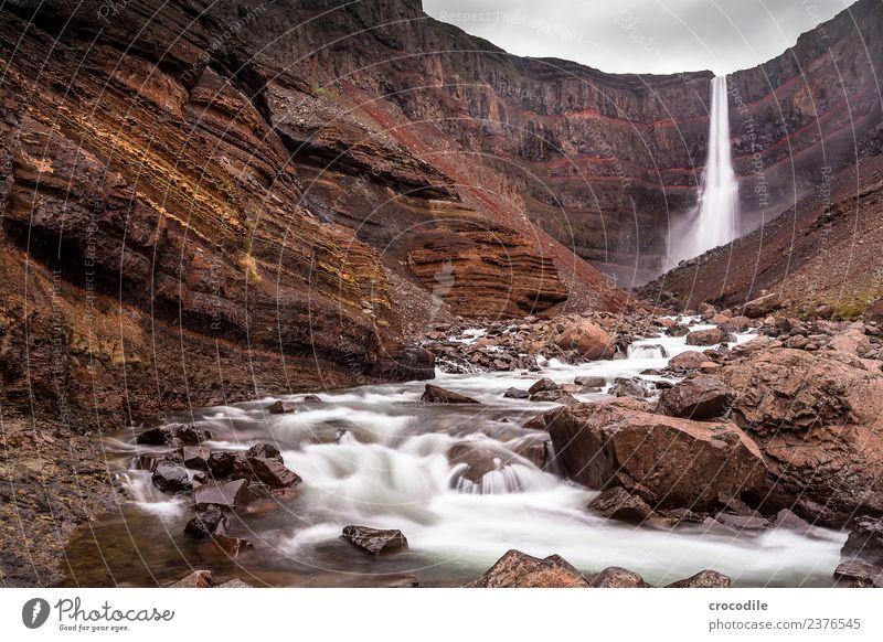 Water Red Dark Rock River Iceland Canyon Waterfall Damp Cliff Mystic White crest Volcanic Volcanic island Hengifoss