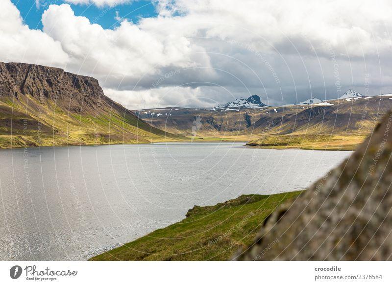 Green Water Ocean Far-off places Mountain Hiking Vantage point Peak River Snowcapped peak Panorama (Format) Iceland Moss Volcano Cliff Atlantic Ocean