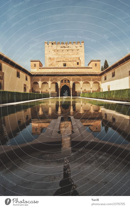 Alhambra Vacation & Travel Tourism Trip Sightseeing City trip Summer Palace Manmade structures Building Architecture Might Castle city castle Spain Granada
