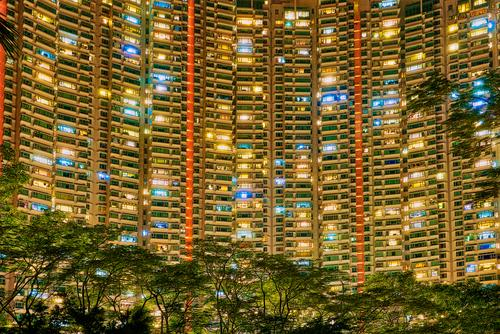 Hong Kong - Tung Chung - Tower Blocks Style Design Life Living or residing Flat (apartment) House (Residential Structure) Town Overpopulated High-rise