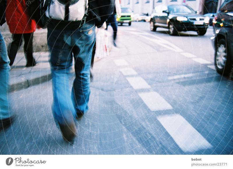Street Movement Car Going Walking Transport Jeans Munich Pedestrian Haste Tar