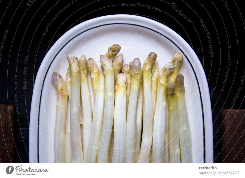 asparagus Food Nutrition Organic produce Vegetarian diet Diet Asparagus Asparagus season Plate Interior shot Close-up Detail Deserted Neutral Background Day