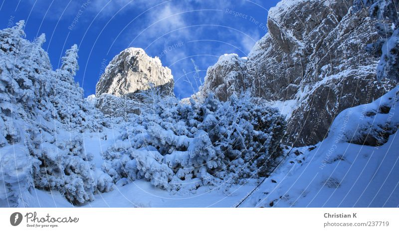 Sky Nature Blue White Winter Landscape Cold Snow Mountain Above Stone Air Ice Rock Leisure and hobbies Dangerous