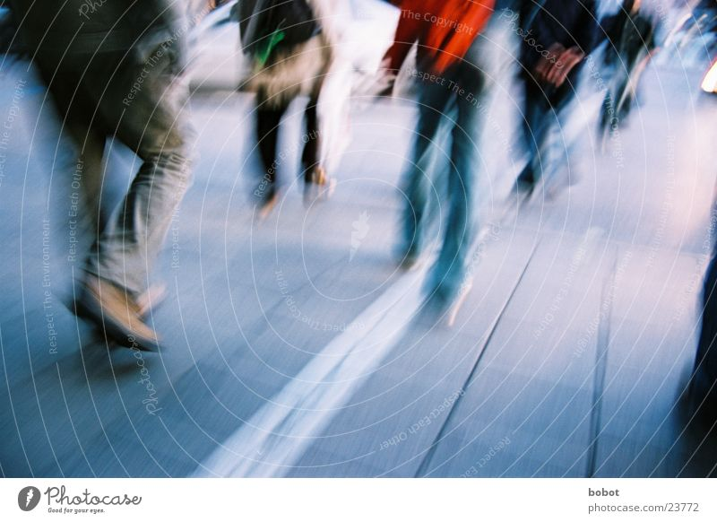 On the Hunt (II) Going Tar Transport Pedestrian Munich Haste Street Jeans Movement Walking frantic