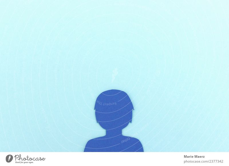 Profile Silhouette - Social Network Users Lifestyle Advancement Future Telecommunications Internet Feminine Head Communicate Small Modern Nerdy Curiosity Blue