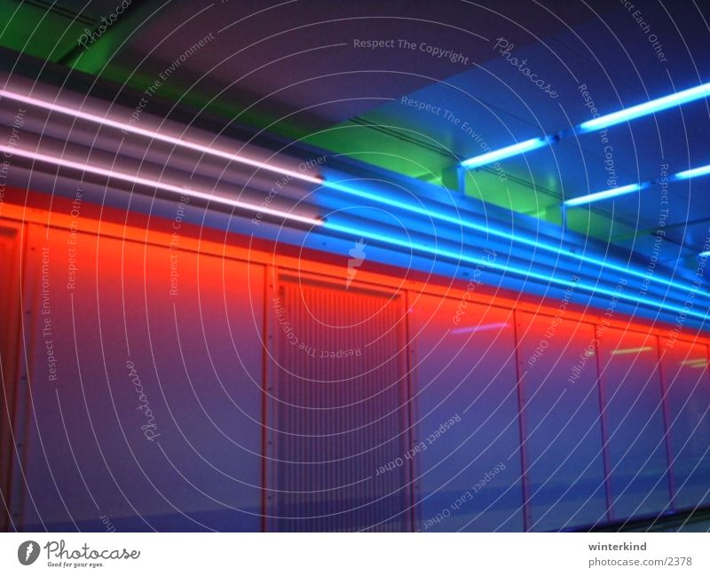 Munich Airport Tunnel Light Aviation Colour