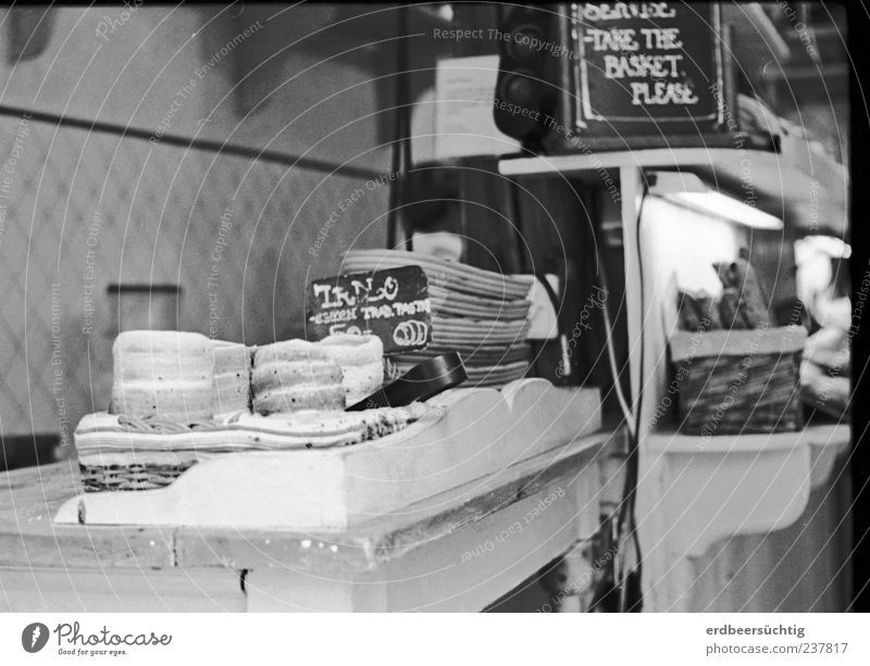 At the Prague Baker... Food Dough Baked goods Bread Candy Nutrition Prague speciality Authentic Bakery Czech Republic Black & white photo Counter Store premises