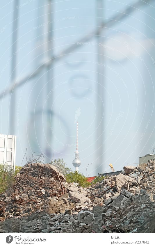 Berlin Stone Tourism Growth Change Construction site Tower Transience Manmade structures Historic Fence Decline Landmark Ruin GDR Soap bubble
