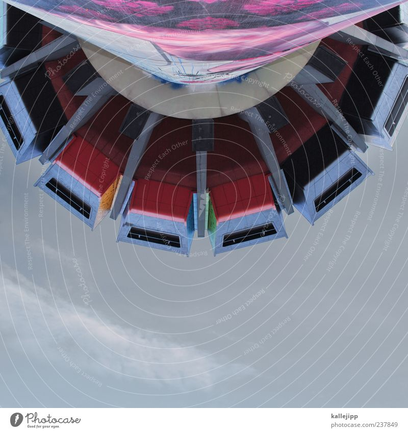 Window Berlin Facade High-rise Modern Tower Round Upward Vertical Futurism Section of image Partially visible House (Residential Structure) Colour Perspective