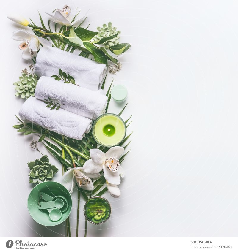 Nature Beautiful Green White Relaxation Healthy Background picture Style Design Decoration Modern Candle Wellness Beauty Photography Hip & trendy