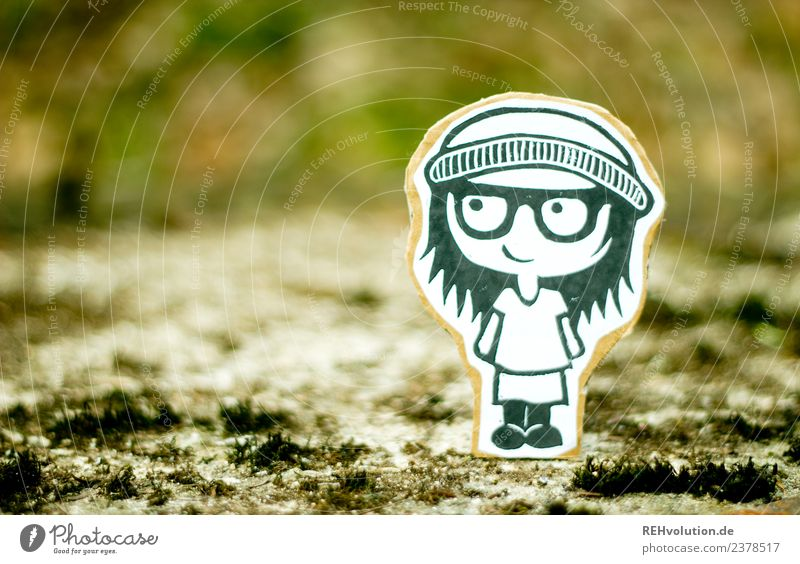 Pappland Girl in the Wind Human being Feminine Youth (Young adults) 1 Art Youth culture Environment Nature Landscape Moss Lanes & trails Eyeglasses Cap Smiling