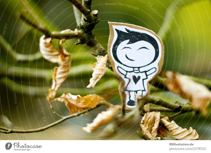 Human being Nature Tree Joy Forest Environment Autumn Boy (child) Happy Exceptional Contentment Masculine Infancy Creativity Smiling Happiness