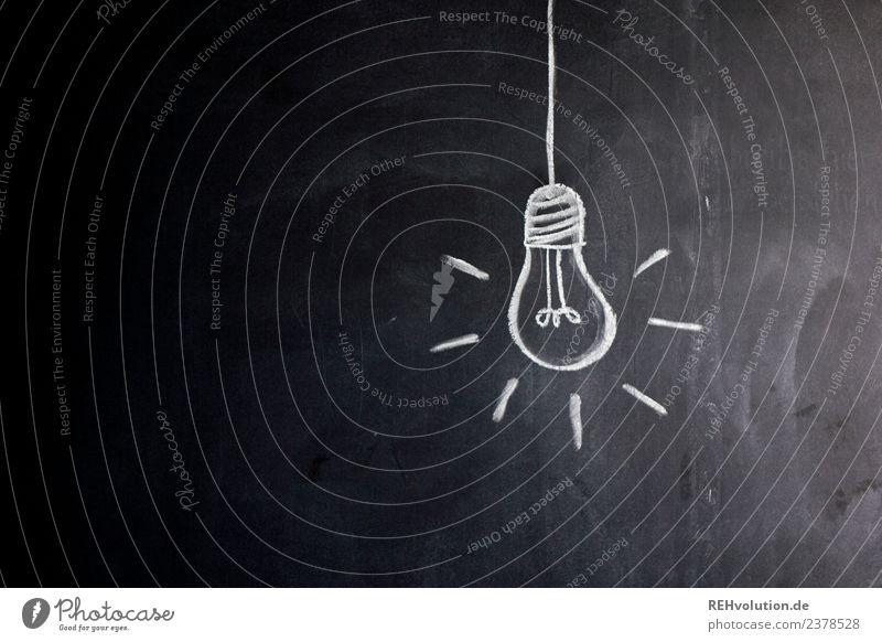 Dark Art Lamp Bright Illuminate Creativity Idea Illustration Painted Inspiration Blackboard Electric bulb Drawing Chalk Conceptual design Innovative
