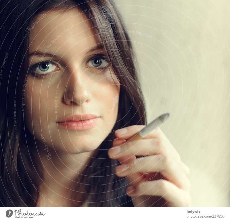 Human being Woman Youth (Young adults) Beautiful Calm Loneliness Face Adults Feminine Sadness Style Elegant Young woman 18 - 30 years Smoking To hold on