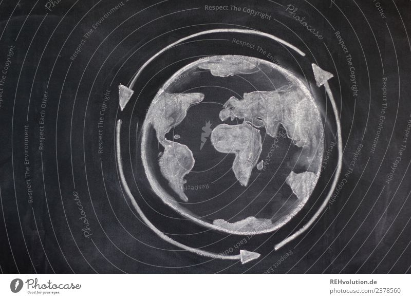 blackboard drawing | globe circulation Environment Climate Climate change Globe Earth Idea Innovative Creativity Environmental pollution