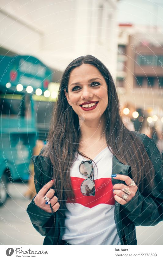 Portrait of a young woman going out for leisure Lifestyle Shopping Joy Leisure and hobbies Vacation & Travel Tourism Trip Adventure Sightseeing Entertainment