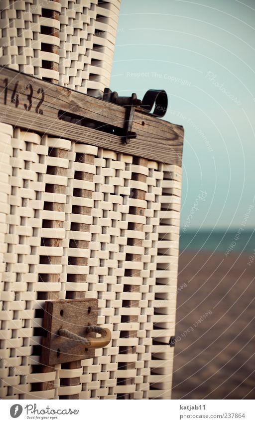 Nature Water Vacation & Travel Ocean Summer Beach Calm Sand Horizon Sit Island Tourism North Sea Summer vacation Beach chair Cloudless sky