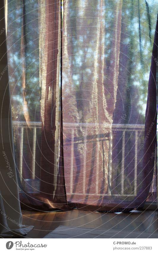 Calm Esthetic Handrail Balcony Drape Transparent Carpet Bedroom Screening Sunlight Laminate French windows