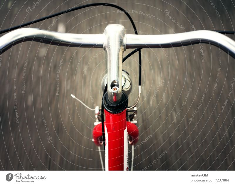 I want to ride... Art Esthetic Photos of everyday life Bicycle Cycling Brakes Bicycle handlebars Cycle path Driving Racing sports Speed Speed rush Dangerous