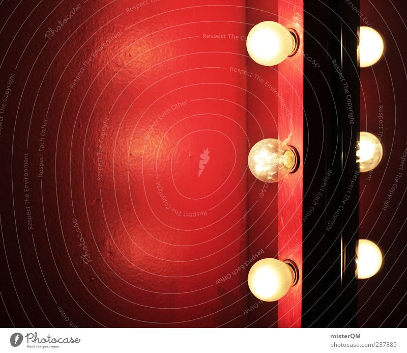 Show must go on. Art Esthetic Theatre Mirror Stage lighting Light Electric bulb Red Red-light district Infrared lamp Shows Event Lighting Night life