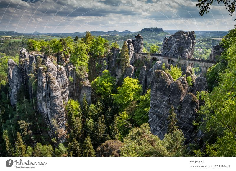 Sky Nature Vacation & Travel Summer Green Landscape Far-off places Forest Tourism Exceptional Germany Rock Trip Hiking Horizon Adventure