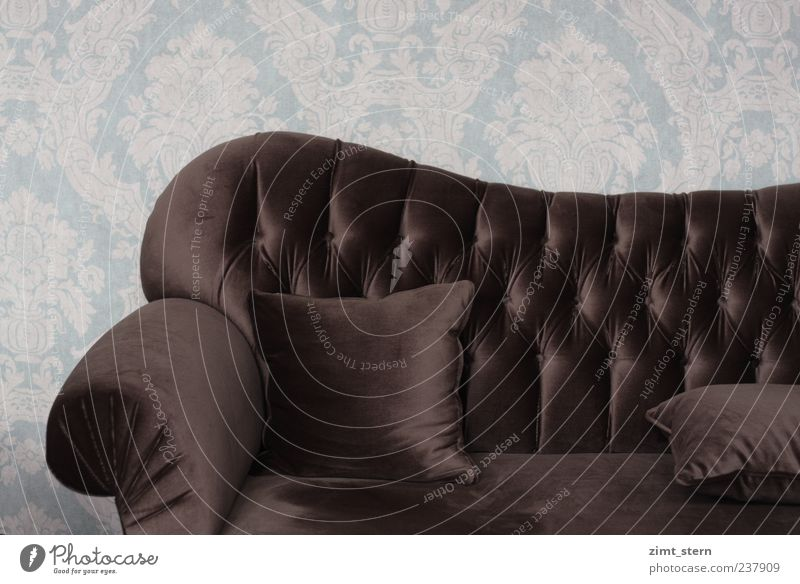 Noble.seat.place Style Design Relaxation Calm Flat (apartment) Sofa Living room Wallpaper pattern Decoration Ornament Esthetic Retro Soft Brown