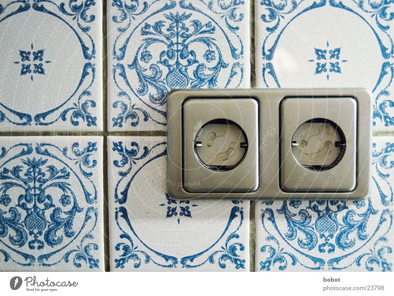 Blue Electricity Technology Kitchen Protection Tile Household Socket Electrical equipment