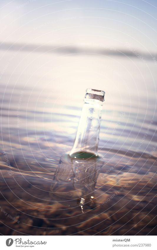 Fifteen men on the... Art Adventure Esthetic Bottle Message in a bottle Deposit bottle Water Float in the water Environmental pollution Mystic Mysterious