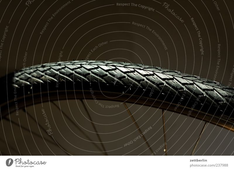 Vacation & Travel Black Bicycle Leisure and hobbies Glittering Trip Tourism New Clean Wheel Tire tread Spokes Macro (Extreme close-up) Bicycle tyre