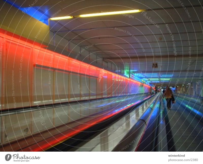 Munich Airport Light Tunnel Colour Gate Vacation & Travel