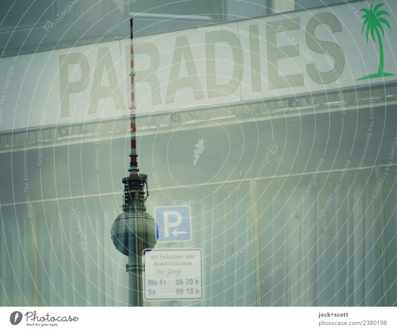 Paradies parking Lifestyle Sightseeing City trip Night life Club Disco Downtown Berlin Tourist Attraction Landmark Berlin TV Tower Parking lot