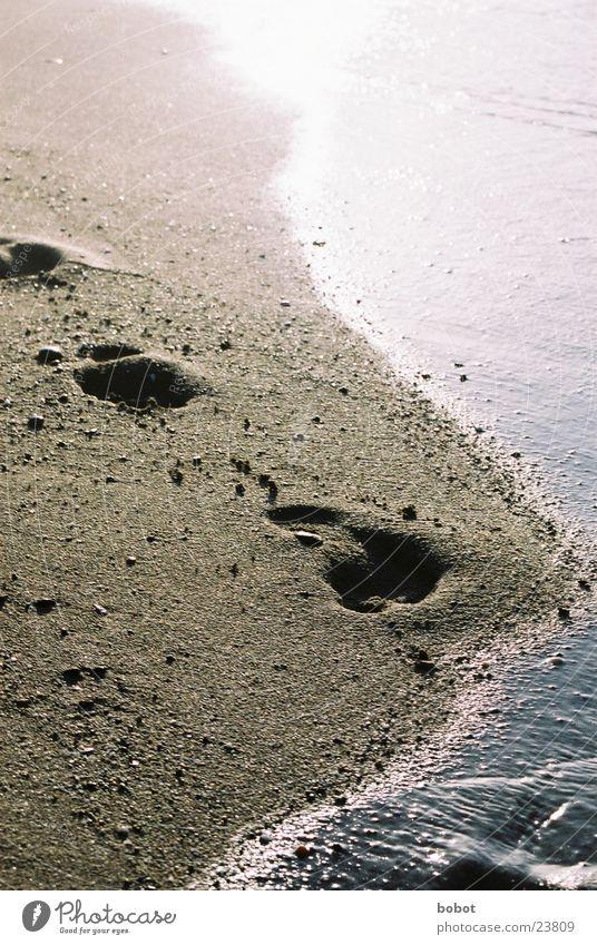 Sun Ocean Blue Beach Yellow Warmth Sand Future Physics Hot Past Footprint Tracks Sea water