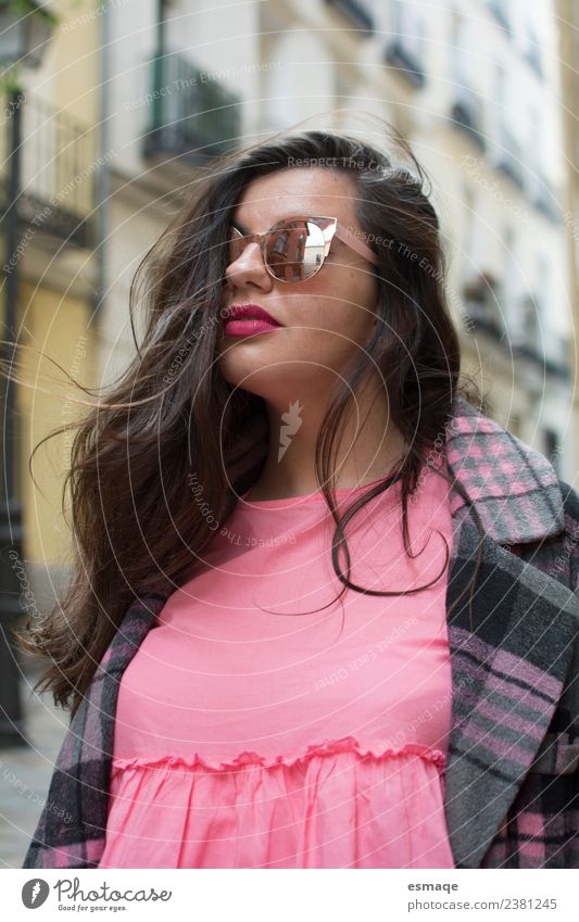 Portrait of woman with sunglasses in street Woman Human being Vacation & Travel Youth (Young adults) Town Beautiful Joy 18 - 30 years Adults Lifestyle Feminine