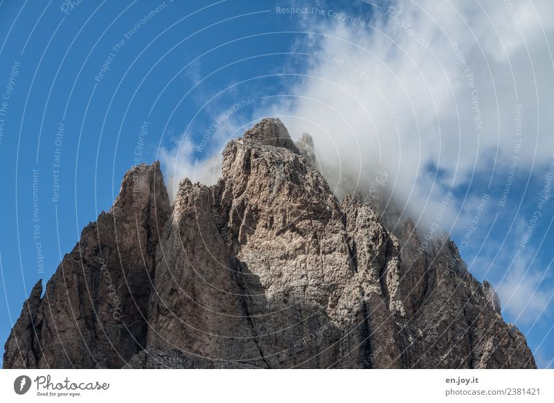Covered Vacation & Travel Tourism Far-off places Mountain Hiking Nature Landscape Rock Alps Dolomites Peak Italy South Tyrol Gigantic Tall Point Wanderlust