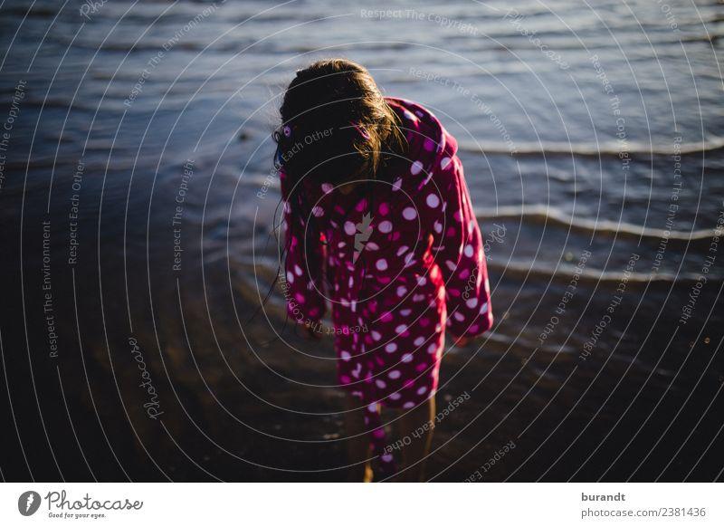 Summer by the sea I Swimming & Bathing Vacation & Travel Trip Sun Beach Ocean Feminine Child Girl Body 1 Human being 3 - 8 years Infancy Water Bathrobe Esthetic