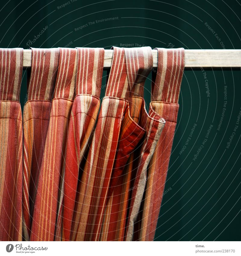 Beautiful Red Yellow Movement Orange Stripe Cloth Wrinkles Drape Hang Striped Textiles Rod Loop Folds Cloth pattern
