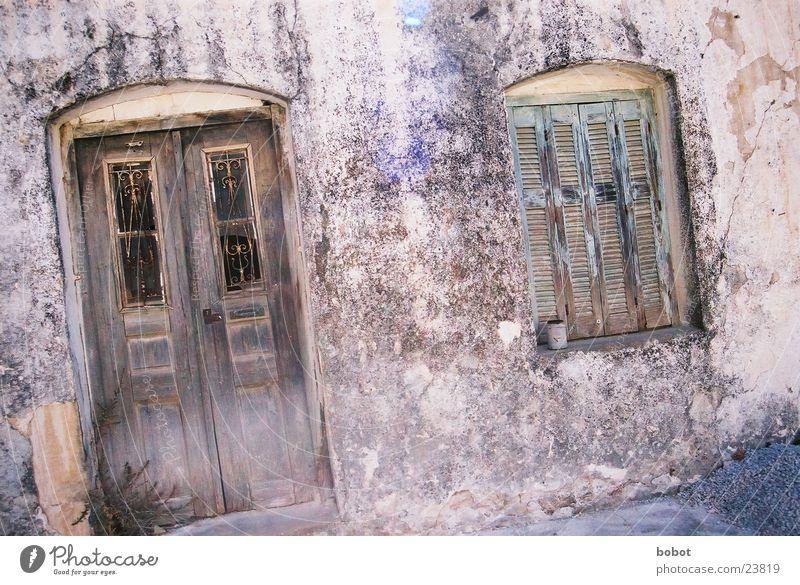 Loneliness Window Architecture Derelict Decline Crete Brittle Run-down Front door