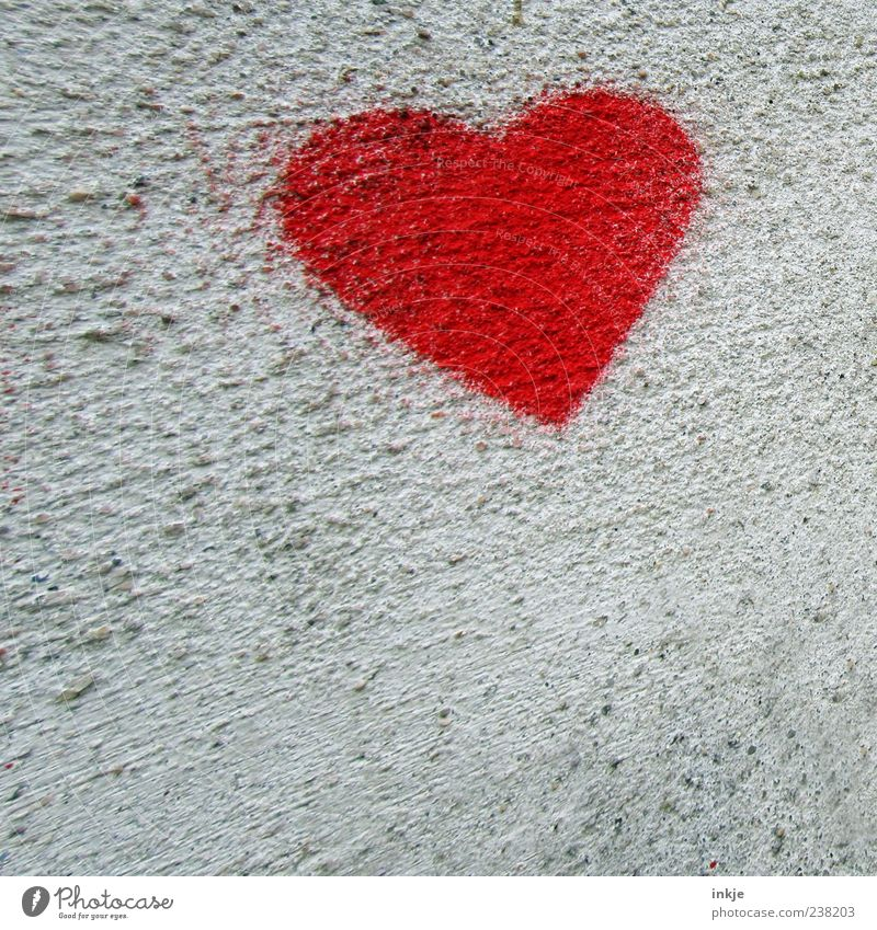 Red Colour Wall (building) Graffiti Emotions Movement Wall (barrier) Moody Facade Heart Flying Exceptional Concrete Speed Romance Kitsch