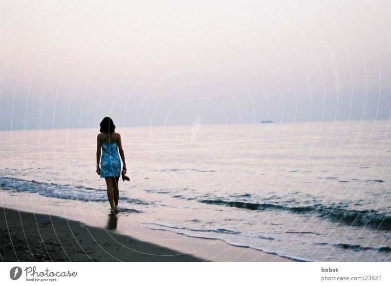 Woman Ocean Vacation & Travel Relaxation Waves Europe Serene Beach Sandy beach