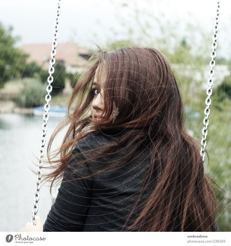 Gone with the wind. Style Hair and hairstyles Leisure and hobbies Playing Human being Feminine Young woman Youth (Young adults) Woman Adults Friendship Life