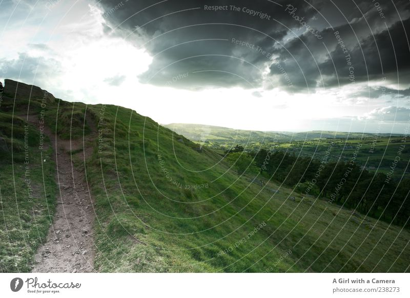 uncontrollability Environment Nature Landscape Sky Clouds Storm clouds Spring Summer Climate Climate change Weather Beautiful weather Bad weather Grass Hill