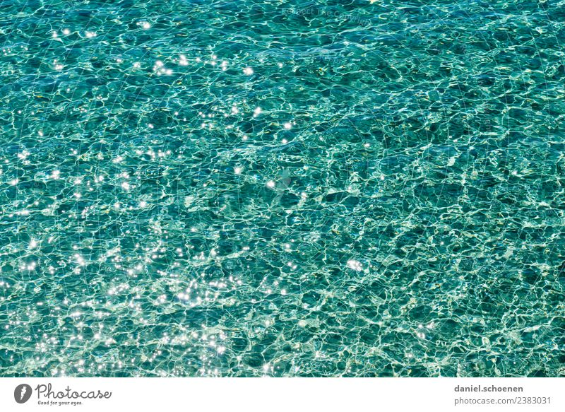 recently at the sea 2 Vacation & Travel Summer Summer vacation Sun Beach Ocean Waves Water Blue Turquoise Pure Colour photo Multicoloured Deserted Light