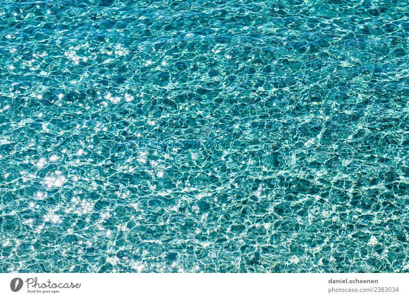 Vacation & Travel Summer Blue Water Ocean Swimming & Bathing Waves Glittering Pure Turquoise Fluid Mediterranean sea Maritime