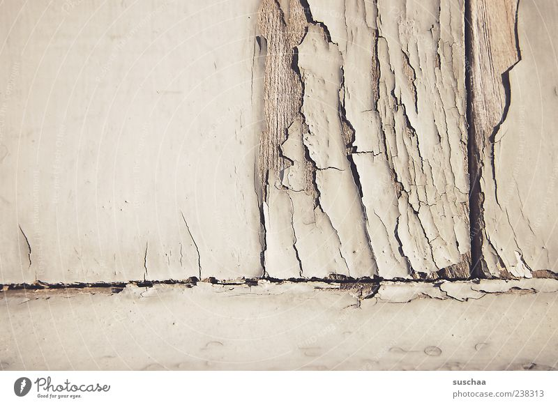 cracked .. (2) Wall (barrier) Wall (building) Facade Wood Old Broken Decline Transience Change Crack & Rip & Tear Colour photo Subdued colour Exterior shot