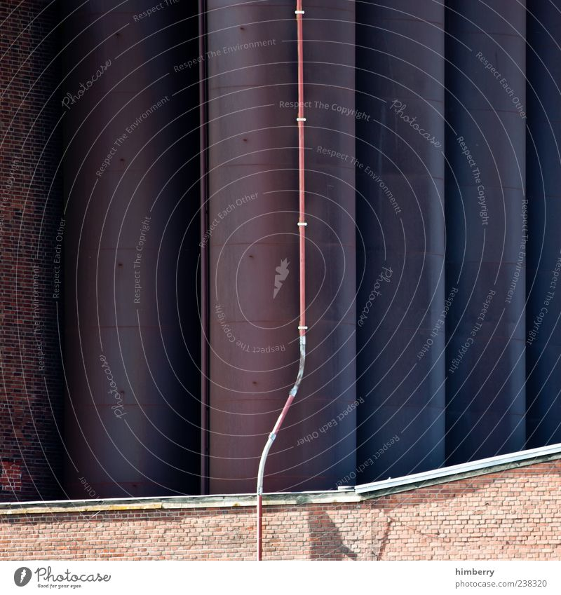 Wall (building) Architecture Wall (barrier) Building Facade Arrangement Perspective Industry Industrial Photography Factory Manmade structures Transmission lines Conduit Antenna Industrial plant Advancement