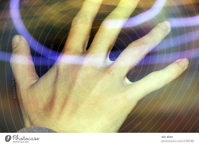 Human being Youth (Young adults) Blue Hand 18 - 30 years Adults Movement Health care Masculine Illuminate Crazy Fingers Youth culture Irritation Intoxication