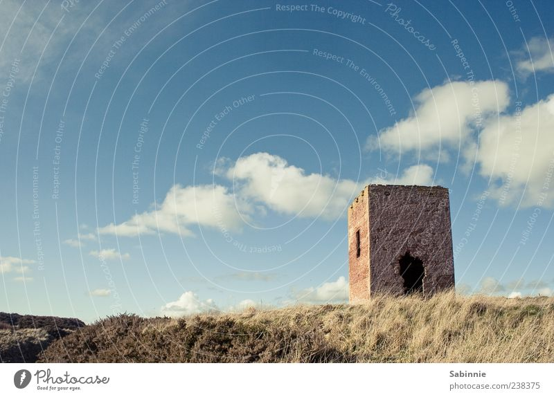 Watchtower for Bella Vacation & Travel Summer Tower Watch tower Environment Nature Earth Sky Clouds Sun Wind Plant Hill Coast Scotland Facade Window Door